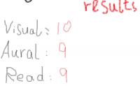 VARK results