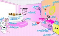 Selina's Picture Dictionary:in the bathroom