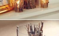 小树枝创意一:烛台